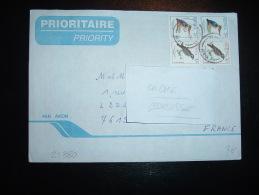 LETTRE PAR AVION POUR FRANCE TP OISEAUX 7 X2 + 3 X2 OBL. AVEC SA CORRESPONDANCE CP MAASAI - Kenya (1963-...)