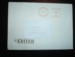 LETTRE EMA T 5948 à 100 Du 18 1 77 BEAUNE (21 COTE D'OR) + KRITER VIN MOUSSEUX + BOUCHON - Postmark Collection (Covers)