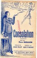 75010 -75- PARIS-PARTITION MUSIQUE CONSOLATION TANGO PIERRE DARAGON-MAX BLOT 8 BD STRASBOURG CINZANO - Partitions Musicales Anciennes