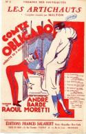 75009 - 75PARIS- PARTITION MUSIQUE  LES ARTICHAUTS MILTON- THEATRE NOUVEAUTES- COMTE OBLIGADO- ANDRE BARDE-RAOUL MORETTI - Partitions Musicales Anciennes