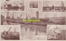 CPA BATEAU BOAT THE PRIESTMAN DREDGER EXCAVATOR AND ELEVATOR PRIESTMAN BROTHERS LIMITED HULL PTO - Altri