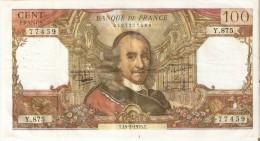 BILLETE DE FRANCIA DE 100 FRANCOS DEL 15-5-1975 CORNEILLE  (BANKNOTE) - 1962-1997 ''Francs''