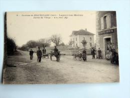 Carte Postale Ancienne : Environs De BEAUREPAIRE : Lapeyrouse-Mornay, Café Rey , Animé, Attelages - Beaurepaire