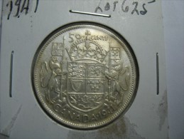 CANADA  HALF DOLLAR 50 CENTS SILVER  COIN 1941 - Canada