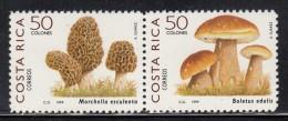 Costa Rica MNH Scott #522 Pair 50col Mushrooms - Morhella Esculenta, Boletus Edulis - Costa Rica