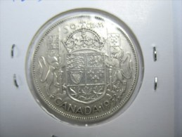 CANADA  HALF DOLLAR 50 CENTS SILVER  COIN 1953 UNTILL   1966  ALL 8 COINS  NICE GRADES - Canada