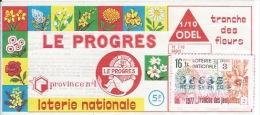 Le Progrès 1977 - Billets De Loterie