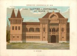 CHROMO A LA VILLE DU MANS MAISON GAUTIER EDIT. BOUILLON RIVOYRE EXPO UNIVERSELLE 1878 RUSSIE - Cromo