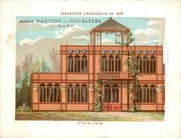 CHROMO A LA VILLE DU MANS MAISON GAUTIER EDIT. BOUILLON RIVOYRE EXPO UNIVERSELLE 1878 ETATS UNIS - Chromos