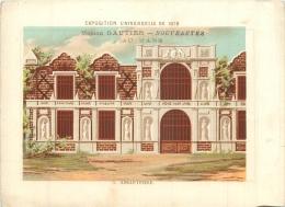 CHROMO A LA VILLE DU MANS MAISON GAUTIER EDIT. BOUILLON RIVOYRE EXPO UNIVERSELLE 1878  ANGLETERRE - Cromo