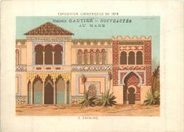 CHROMO A LA VILLE DU MANS MAISON GAUTIER EDIT. BOUILLON RIVOYRE EXPO UNIVERSELLE 1878  ESPAGNE - Cromo