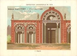 CHROMO A LA VILLE DU MANS MAISON GAUTIER EDIT. BOUILLON RIVOYRE EXPO UNIVERSELLE 1878  ITALIE - Cromo
