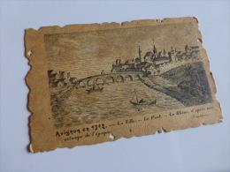 AVIGNON EN 1312 LA VILLE LE PONT LE RHONE COLLECTION HISTORIQUE DE LA FRANCE  @ CPA VUE RECTO/VERSO AVEC BORDS - Avignon (Palais & Pont)