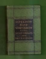ESPERANTO HAND - WÖRTERBUCH  II.TEIL  DEUTSCH-ESPERANTO VON PAUL BENNEMANN - Dictionnaires