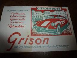Buvard Ancien Thème Automobile DS 19 - Automotive