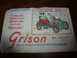 Buvard Ancien Thème Automobile  4 Cylindres 1906 - Automobile