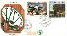 TCHAD  1968   Tableaux De H. Rousseau  FDC Poste Aérienne - Chad (1960-...)