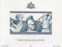 Dichter Vergil 1981 San Marino Block 8 ** 5€ Kultur Literatur Hirten-Lieder Bloque Hojita M/s Famous Men Bloc Sheet Art - Neufs