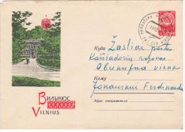 Lithuania USSR 1963 Vilnius, Gediminas Tower And Palace Of The Pioneers, Canceled In Kirdeikiai & Zhasliai - Lituanie