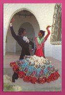 PC9549 Flamenco Dancers With The Lady's Dress Made From Material, And Her Body From Cotton. - Dance
