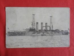 U.S.S. Georgia 1910 Botton Left Corner Crease   Cancel   Ref 1275 - Warships