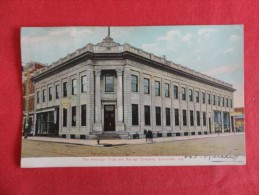Indiana > Evansville  American Trust & Savings CO 1907 Cancel Stain On  Back Ref 1276 - Evansville