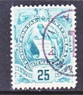 GUATAMALA  107  (o)   1900-02  Issue - Guatemala