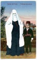 Türkin Mit Kind, Turkinja Sa Sinom, Tracht, Folk Costume, Brod, 1917 - Türkei