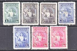 GUATEMALA   320-3  *  (o)   W/  12 1/2 - Guatemala