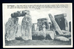 Cpa D' Angleterre Witshire Stonehenge Menhirs Dolmens      BOR20 - Stonehenge