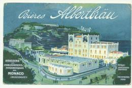 MONACO- Brasserie Et ETS Frigorifiques : BIERES ALBERTBRAÜ - Unclassified