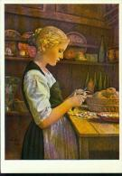 Albert Anker Pinx. 1831-1910 Le Jeune Cuisiniere Kartoffelschälendes Mädchen - Illustrateurs & Photographes