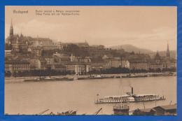 Ungarn; Budapest; Budai Reszlet A Matyas Templommal; Mathias Kirche; Donau Mit Schiff - Hongrie