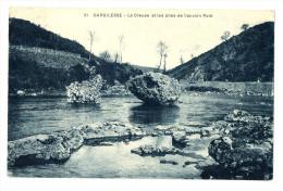 CPA 36 Indre Gargilesse Les Piles De L´ancien Pont - Sonstige Gemeinden