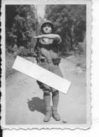 FFI Armée De Libération 1945 Mas 36 Cartouchières Allemandes Casque Us 1 Photo 1939-1945 Ww2 WwII Wk - War, Military