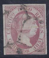 ESPAÑA 1851 - Edifil #9 - Precio Cat. € 355 - 1850-68 Kingdom: Isabella II