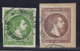 ESPAÑA 1875 - Edifil #160/61 - VFU - Usados