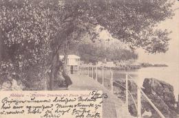 OP182   --  ABBAZIA   ---   NORDLICHER STRANDWEG MIT NEUEM SEEBAD  --  1903 - Croatia