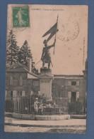 52 HAUTE MARNE - CP ANIMEE LANGRES - STATUE DE JEANNE D´ARC - C. MARLIN MAGASINS REUNIS LANGRES - CIRCULEE EN 1916 - Langres