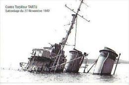 Toulon   165          Contre Torpilleur TARTU . Sabordage Du 27 Nov 1942  . - Toulon