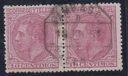 ESPAÑA 1879 - Edifil # 202 - VFU Matasellos Ambulante En Pareja - Usados