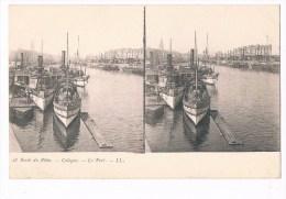 S 256 -  Bords Du Rhin - Cologne Le Port LL 18 - Cartes Stéréoscopiques