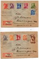 1947 - 4 ENVELOPPES RECOMMANDEES De ST INGBERT - SAAR