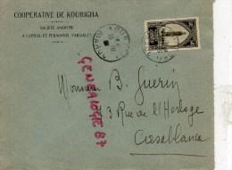 MAROC - ENVELOPPE COOPERATIVE DE KOURIGHA - 1938- M. GUERIN 73 RUE HORLOGE  A CASABLANCA - Factures & Documents Commerciaux