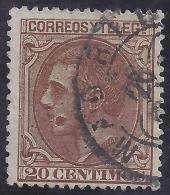 ESPAÑA 1879 - Edifil #203 - VFU - Variedad: Mancha En La Boca - Usados