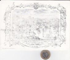GENT (Gand) - 1862 - Porseleinkaart 17x12cm - GENTSE ZOO - Societe Royale d' Histoire naturelle - BELGIAN HISTORY !!