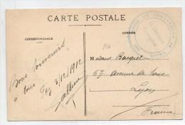 """1912 - CP FM De FEZ (MAROC) Avec CACHET """"GOUM DE CONVOYEURS DU TRAIN"""" - Marruecos (1891-1956)"""