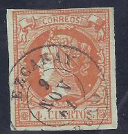 ESPAÑA 1860 - Edifil #52 - Matasellos De Ezcaray (Logroño) - VFU - 1850-68 Reino: Isabel II