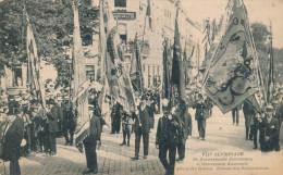 341/22 - Carte-Vue TP Albert Cachet Mécanique JEUX OLYMPIQUES ANVERS 1920 - Ommegang Groupe Des Corporations - Summer 1920: Antwerp