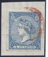 ESPAÑA 1866 - Edifil # 81 (Fechador Rojo) - 1850-68 Kingdom: Isabella II